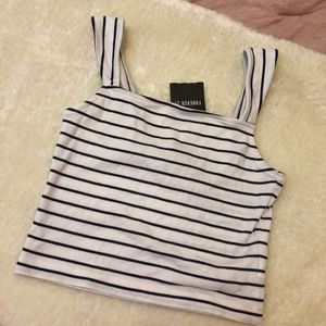NWT Forever 21 striped crop size M